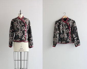 Vintage Asian Jacket . Mandarin Collar Chinese Jacket . Womens Outerwear