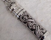 NEW Sterling Silver Prayer Box - SMALL Essential Oil Bottle - Pill Box - Scrolled and Curled Wire - DS6