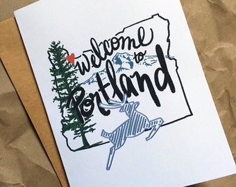 Welcome to Portland - Blank Card