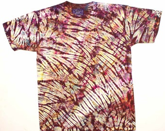 L Shibori Tie Dye Men's T Shirt  - Brown Earth