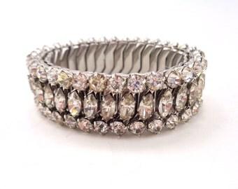 Crystal Rhinestone Expansion Bracelet Clear Rhinestone Stretch Bracelet