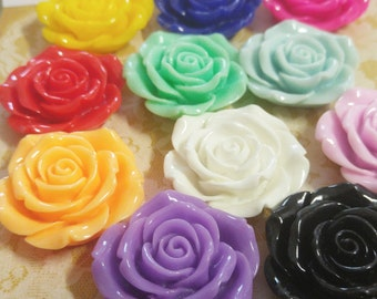 Large Flower Bead Bubblegum Necklace Flower Beads Cabochon 40mm You pick