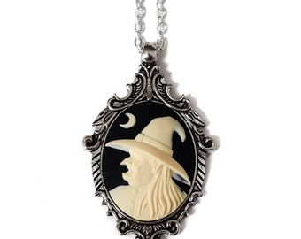 Witch Cameo Necklace