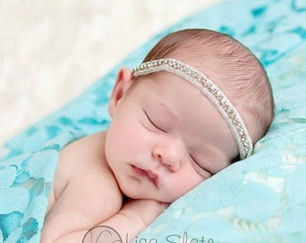 Newborn headbands Baby headband Adult headband Child headband Baby hairbow Photo prop Wedding headband Teen headband rhinestone