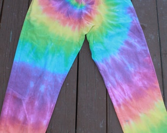 Tie Dye Scrubs pants size Medium upcycled