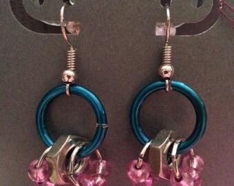 Oceanic Hardware Earrings - Upcycled Hardware Earrings