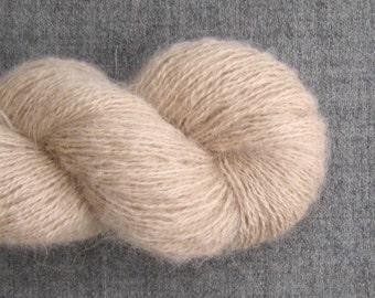 Recycled Baby Alpaca Lace Yarn, Natural, 460 yards, Lot 030316