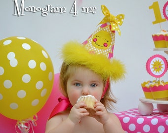 You are my Sunshine Birthday Hat - Girls Birthday hat - Sunshine