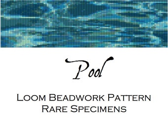 Loom Beadwork Pattern for Delica cylinder beads - Pool - Beadwork Tapestry - PDF instant download