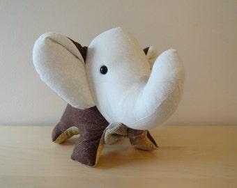 Large Stuffed Elephant- Professor