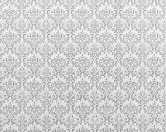 Premier Prints Madison Twill Storm Damask  Fabric By The Yard