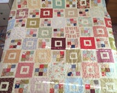 Shortcake Large Quilt in Fig Tree Fabrics