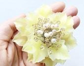 Fresh Water Pearl and Swarovski Crystal Floral Bridesmaid Hair Comb/Hair Slide