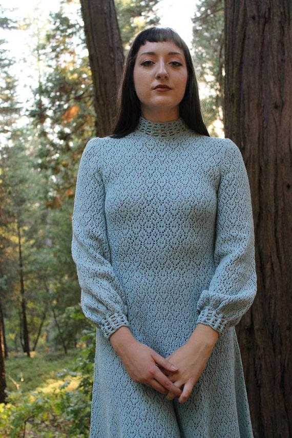 JUNIPER Vintage Knit Dress 60s 70s Casual Cozy Sweater Dress