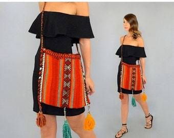 SUMMER SALE Tapestry TASSELS Carpet Bag