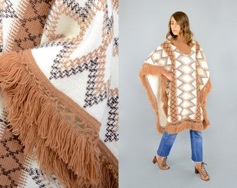 80's Mexican KNIT Poncho