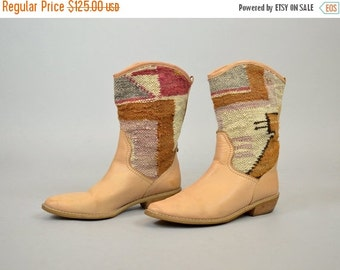 ANNIVERSARY SALE 90's Southwest Tapestry Boots