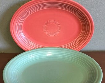Fiestaware Green & Pink Serving Dishes