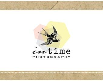 Custom Logo Design - PreDesigned Logo - PreMade Logo - Vector Logo - OOAK Logo - IN TIME Logo Design -Custom Business Branding - Bird Logo
