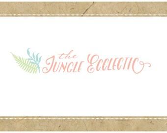 Custom Logo Design - PreDesigned Logo PreMade Logo - Vector Logo Design - OOAK - JUNGLE ECCLECTIC Logo Design - Custom Brand Design