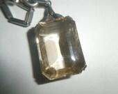 Reserved for Cernia VIntage, Necklace, 925 Sterling, Art Deco Neckace, 925 Sterling Smoky Topaz, Pendant circa 1920's
