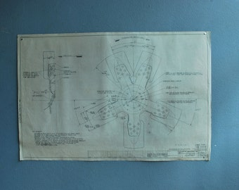 Original Drawing c. 1970's for blueprint schematic automotive company Drawing C of series