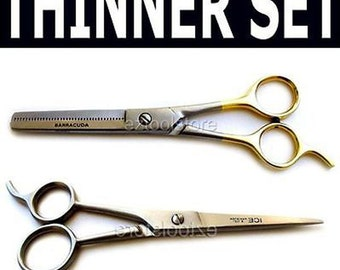 Barber Hair Styling Cutting Thinning scissors -2pcs SET  BSET55H