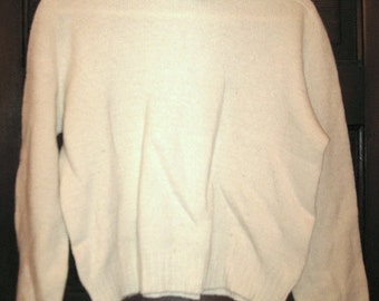 Vintage Sears Cream Wool Turtleneck