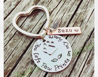 Pet Loss Key Chain - Pet Loss - Furbaby - Dog Loss - Cat Loss - Rainbow Bridge -Hand Stamped