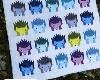 Hazel Hedgehog Quilt Pattern by Elizabeth Hartman 3 Sizes- Baby, Lap and Twin