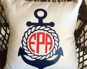 Personalized Pillow Cover - Nautical Theme