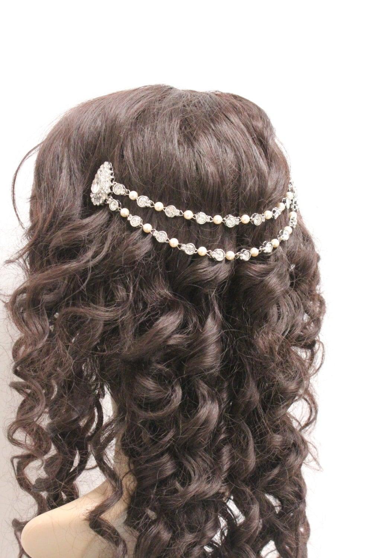 out of 5 stars - Women Fashion Golden Leaf Head Chain Jewelry Headband Head Piece Hair band AH.