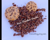 Faux Chocolate Chips , Polymer Clay Chocolate Chunks , 10 Grams ,Decoden Chocolate , Cell Phone, Slime ,Cookies, Cakes, By: Tranquilityy