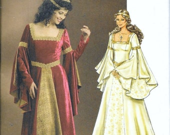 Butterick 4571 Renaissance Faire, Arwen LOTR Costume Sewing Pattern Size 6, 8, 10 and 12