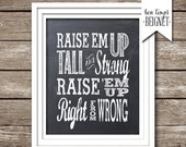 "Raise 'Em Up - Printable - 8x10"" Instant Download"