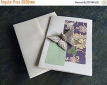 on sale now origami card,  butterfly-greeting-birthday, thank you, baby shower card, get well-折り紙カード