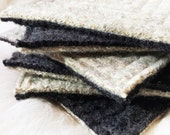 RESERVED Wool Coasters / Modern Rustic Fair Sweater Coasters / Recycled Mug Rugs / Ecofriendly Home Decor Housewarming WormeWoole