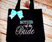Mother of the Bride Tote- Wedding Tote- Wedding Announcement- Personalized tote- Wedding tote Bag- Bridal Party Tote Bag- wedding favors