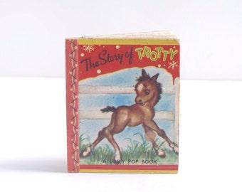 The Story of Trotty, vintage children's book, A Lolly Pop Book, John Martin's House, Kenosha, Wisconsin, horses, storybook, 1949, midcentury