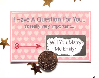 Will You Marry Me Scratch Card