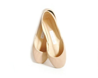The Classic Ballet Flats in Dark Nude | Low Heel Ballerina Style Shoes | Latte | Last Pair size 40