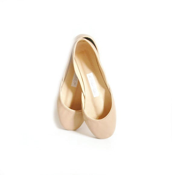 Latte Ballet Flats | Leather Ballerina Flats | Dark Nude Flat Shoes | Latte...Ready to Ship