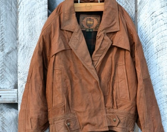 Forenza Small Suede Leather Coat / Bomber Jacket / Vintage 1980's