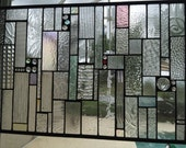 Custom Stained Glass Panel with Subtle Color