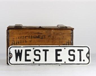 Old Street Sign, Vintage Street Sign, Metal Street Sign, Sign, Traffic Sign, Black And White Street Sign, Industrial Decor, Rustic Decor