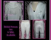 s m l xl 2x  Rhinestone BRIDE sweatpants set Bride Hoodie Bride jacket bride lounge pants bride pants rhinestone sweats