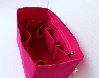 Taller Diaper Extra Large Purse organizer for Louis Vuitton Neverfull GM - Bag organizer insert in Hot Pink