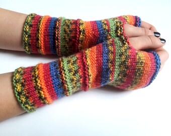 SALE 50% OFF Fingerless gloves - Arm warmers - Womens Fingerless - Long Fingerless Mittens - Wrist warmers - Hand warmers |