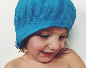 Vintage 50s 60s feathered swim cap