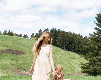 vintage bohemian prairie girl dress